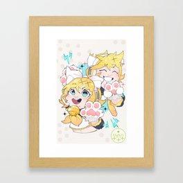 Kagamine Kitties Framed Art Print