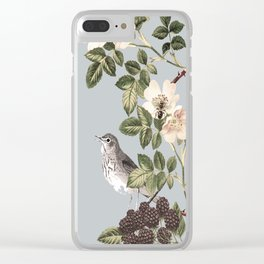 Birds and the Bees Gray Clear iPhone Case