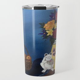 Frog in Still Life Travel Mug