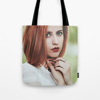 ginger Tote Bags featuring Ginger by Jovana Rikalo