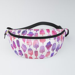 Pink Purple Watercolor Popsicles Icepops Fanny Pack