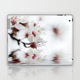 white cherry blossom and water reflection Laptop & iPad Skin