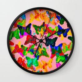 float like a butterfly 3 Wall Clock