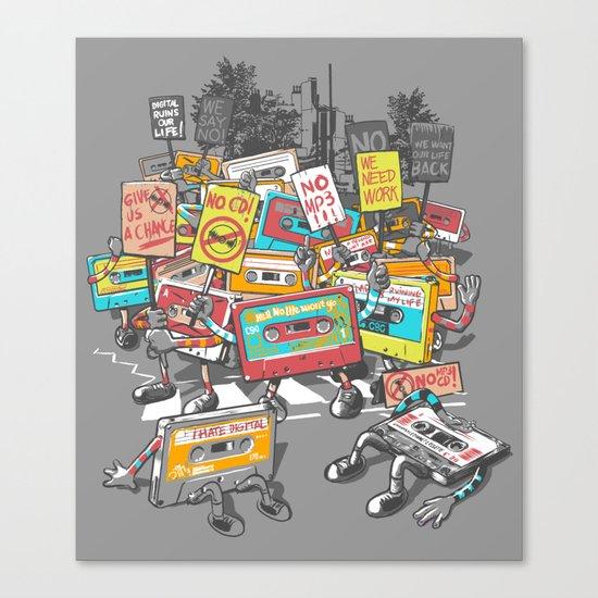 Digital Ruins Our Life Canvas Print