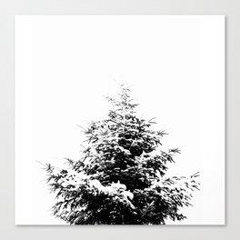 Minimal fir tree portrait Canvas Print