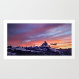 Himalayas Fishtail Mountain Sunset Art Print