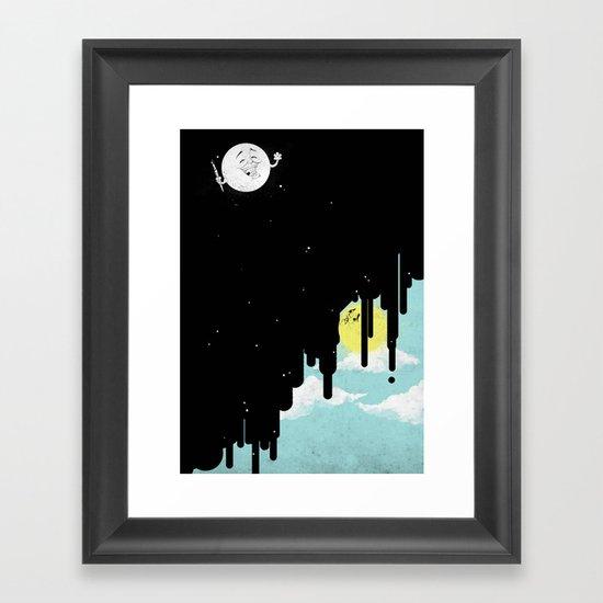 GoodBye! Sun. Framed Art Print