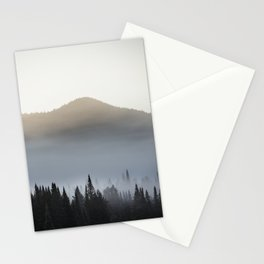 Sunrise over the montains Stationery Cards