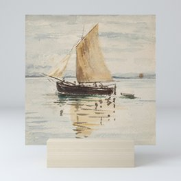 "Egon Schiele ""Segelschiff mit Spiegelungen (Sailing ship with reflection)"" Mini Art Print"