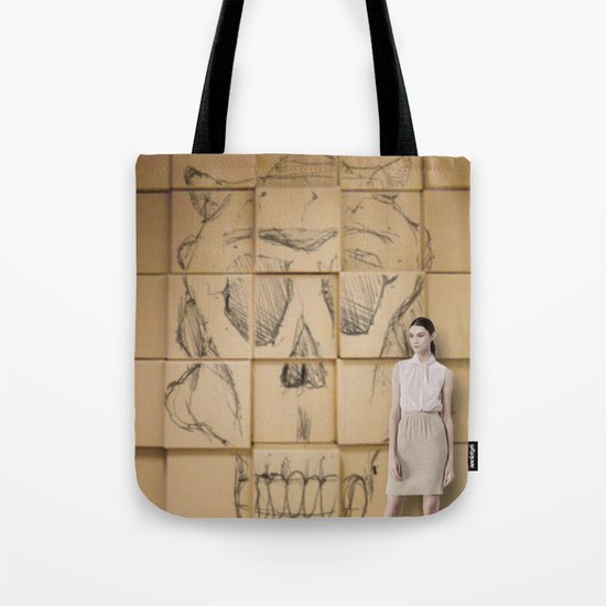 Space in Boxes with a model Tote Bag