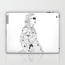 girl with record plastic bag Laptop & iPad Skin