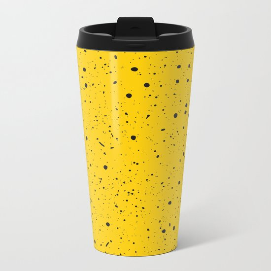 Speckled Yellow Metal Travel Mug