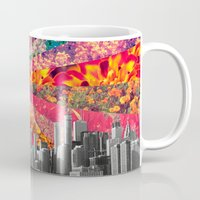 toronto Mugs featuring Blooming Toronto by Bianca Green