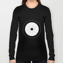 Bicycle Wheel Silhouette Long Sleeve T-shirt