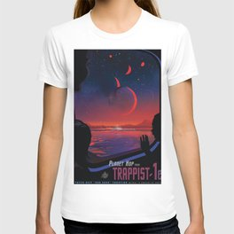 NASA Retro Space Travel Poster #13 - TRAPPIST-1e T-shirt