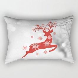 Vintage deers. Merry Christmas! Rectangular Pillow