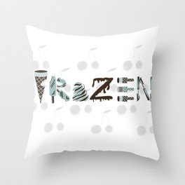 National Ice Cream Day Throw Pillow