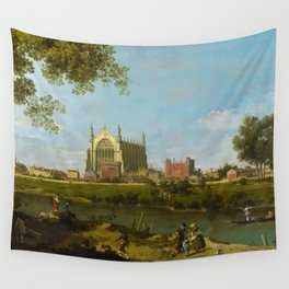 Eton College by Canaletto (1754) Wall Tapestry