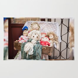 Retro rag dolls toys collection Rug
