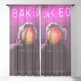 Baked Sheer Curtain