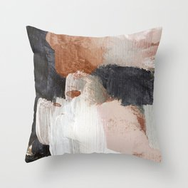 Earthly Abstract Throw Pillow