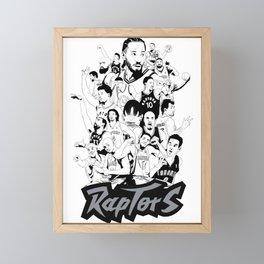 1995-2019 Raptors Framed Mini Art Print