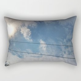 clouds and wire, abstract, no.04 Rectangular Pillow
