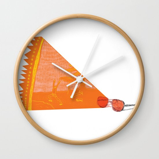 I see summer  Wall Clock