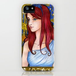 Lizzie Bennet art nouveau iPhone Case