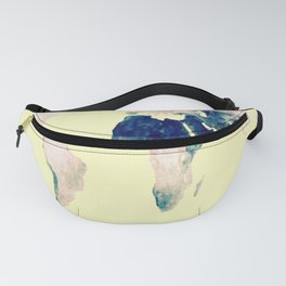 World Map : Gall Peters Pastel Fanny Pack