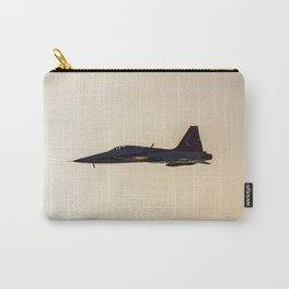 Turkish military acrobatic airplane in backlight Carry-All Pouch