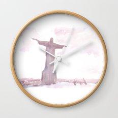 Watercolor landscape illustration_Rio Wall Clock
