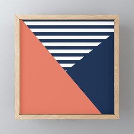 Three colors Framed Mini Art Print