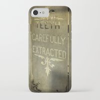 dentist iPhone & iPod Cases featuring Victorian Dentist Sign by Adrian Evans