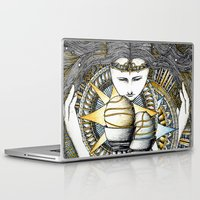 valar morghulis Laptop & iPad Skins featuring Lady of light by Anca Chelaru