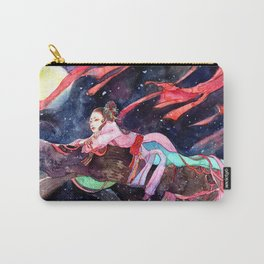 Watercolor Chinese Beauty in the moonlight Carry-All Pouch