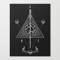 deathly hallows Canvas Prints featuring Deathly Hallows by Mírë