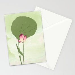 Survive like a lotus flower, rising from the muc Stationery Cards