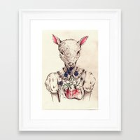 silence of the lambs Framed Art Prints featuring Silence of the Lambs by Marie Toh