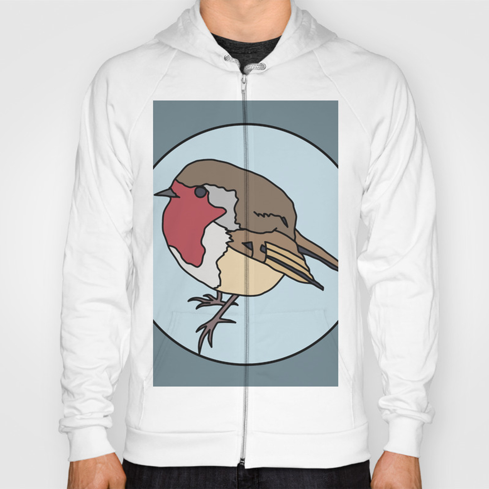 Robin - Robin Redbreast (blue) Hoody by mothpathtags (SSR8922183) photo