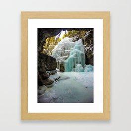 Angel Falls in Maligne Canyon, Canada Framed Art Print