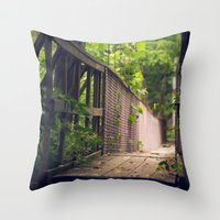 indiana Throw Pillows featuring Indiana Summer by Amy J Smith Photography