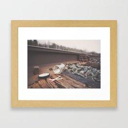Seven Matches Framed Art Print