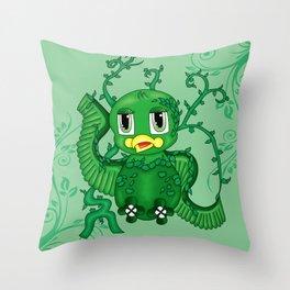 Poison Ivy Bird Throw Pillow