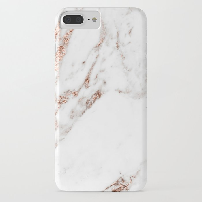 rose gold foil marble iphone case