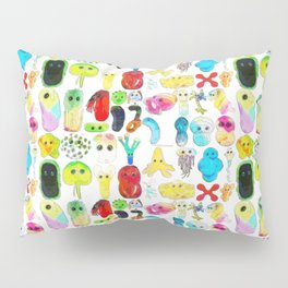 Rainbow Microbes Pillow Sham