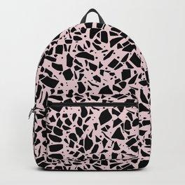 Terrazzo Spots Black on Blush Repeat Backpack