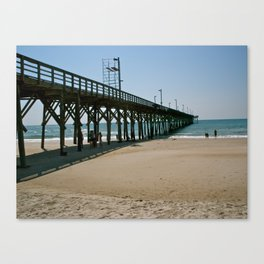 Down by the Pier Canvas Print