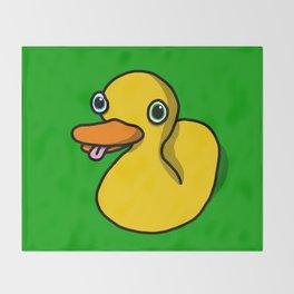 Drunk Duck | Veronica Nagorny Throw Blanket