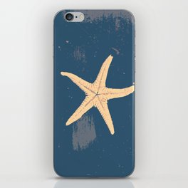 blue seashell iPhone Skin